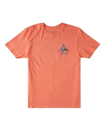 4 Parrot Bay CN Short Sleeve T-Shirt Orange M4041BPC Billabong