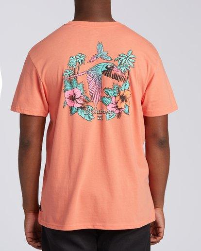 3 Parrot Bay CN Short Sleeve T-Shirt Orange M4041BPC Billabong