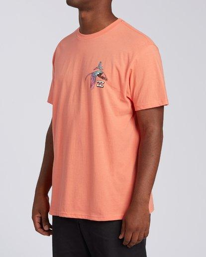 1 Parrot Bay CN Short Sleeve T-Shirt Orange M4041BPC Billabong