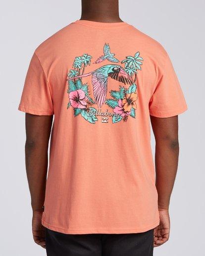 2 Parrot Bay CN Short Sleeve T-Shirt Orange M4041BPC Billabong