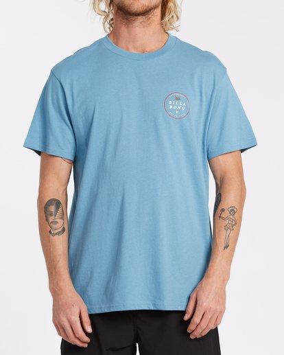 0 Rotor California Short Sleeve T-Shirt Grey M4041BRC Billabong