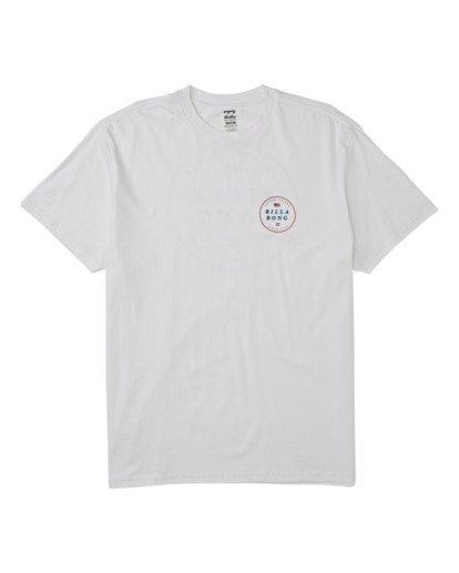 3 Rotor USA Short Sleeve T-Shirt White M4041BRU Billabong