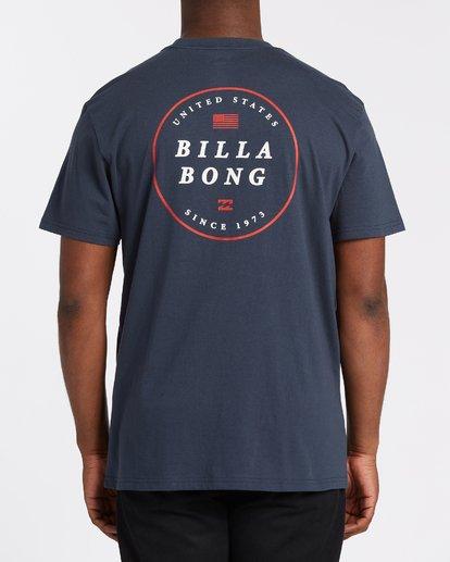 2 Rotor USA Short Sleeve T-Shirt Blue M4041BRU Billabong