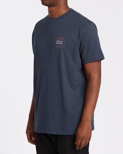 1 Rotor USA Short Sleeve T-Shirt Blue M4041BRU Billabong