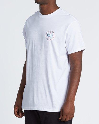 1 Rotor USA Short Sleeve T-Shirt White M4041BRU Billabong