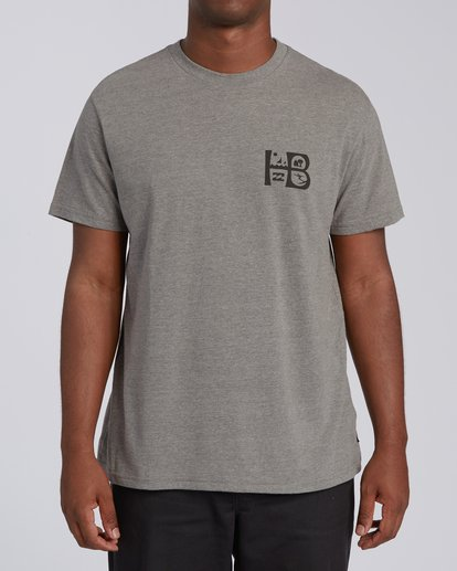 0 Huntington Beach Sign Short Sleeve T-Shirt Green M4041BSG Billabong