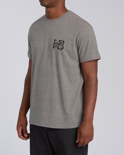 1 Huntington Beach Sign Short Sleeve T-Shirt Green M4041BSG Billabong