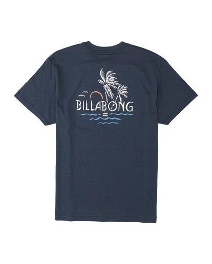 4 Social Club Short Sleeve T-Shirt Blue M4041BSO Billabong