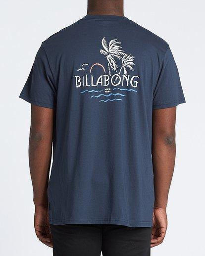 2 Social Club Short Sleeve T-Shirt Blue M4041BSO Billabong