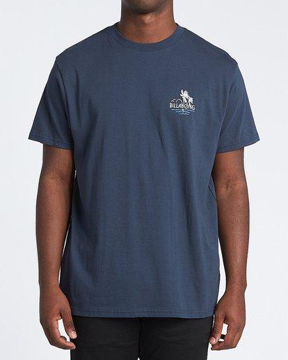 0 Social Club Short Sleeve T-Shirt Blue M4041BSO Billabong