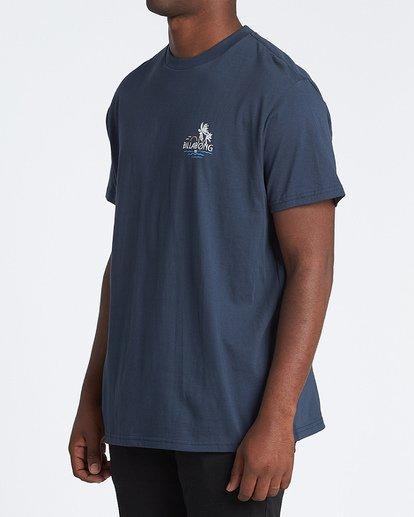 1 Social Club Short Sleeve T-Shirt Blue M4041BSO Billabong