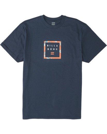 3 Stacker Short Sleeve T-Shirt Blue M4041BSR Billabong