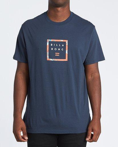 0 Stacker Short Sleeve T-Shirt Blue M4041BSR Billabong