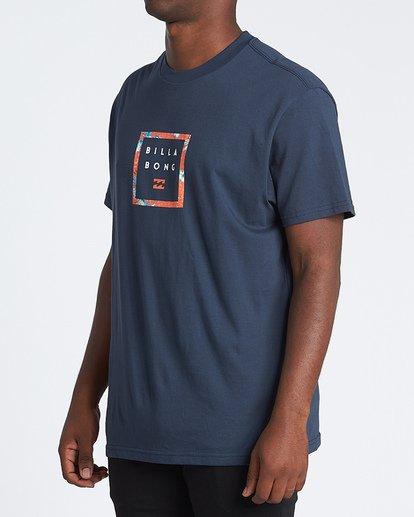 1 Stacker Short Sleeve T-Shirt Blue M4041BSR Billabong