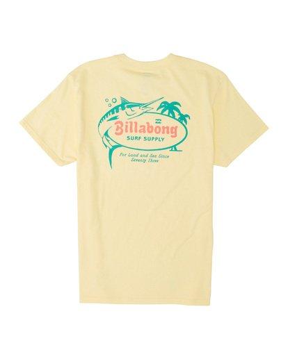 4 Surf Supply Short Sleeve T-Shirt Yellow M4041BSU Billabong