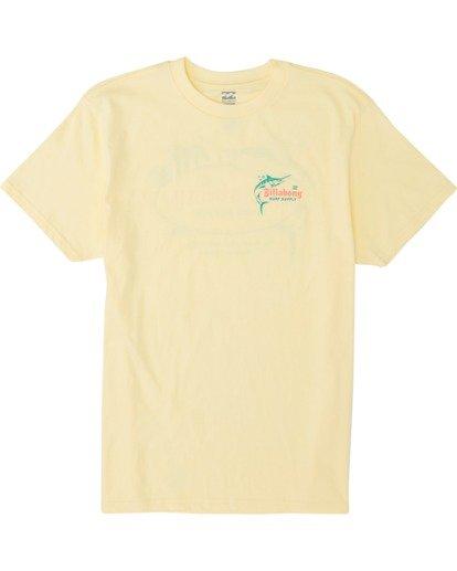 3 Surf Supply Short Sleeve T-Shirt Yellow M4041BSU Billabong