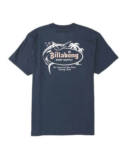 4 Surf Supply Short Sleeve T-Shirt Blue M4041BSU Billabong
