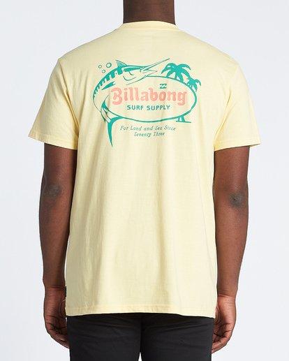 2 Surf Supply Short Sleeve T-Shirt Yellow M4041BSU Billabong