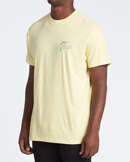 1 Surf Supply Short Sleeve T-Shirt Yellow M4041BSU Billabong