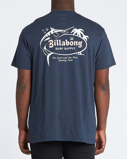 2 Surf Supply Short Sleeve T-Shirt Blue M4041BSU Billabong