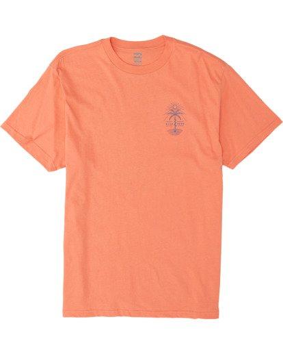 3 Treesnake Short Sleeve T-Shirt Pink M4041BTS Billabong