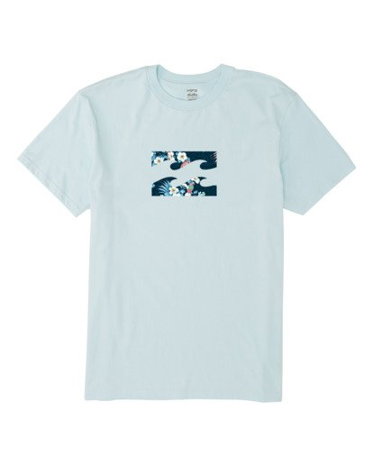 3 Team Wave Short Sleeve T-Shirt Blue M4041BTW Billabong