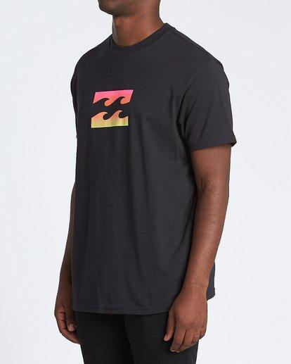 1 Team Wave Short Sleeve T-Shirt Black M4041BTW Billabong