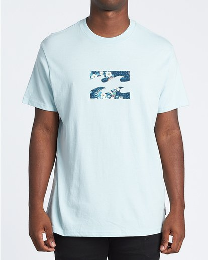 0 Team Wave Short Sleeve T-Shirt Blue M4041BTW Billabong