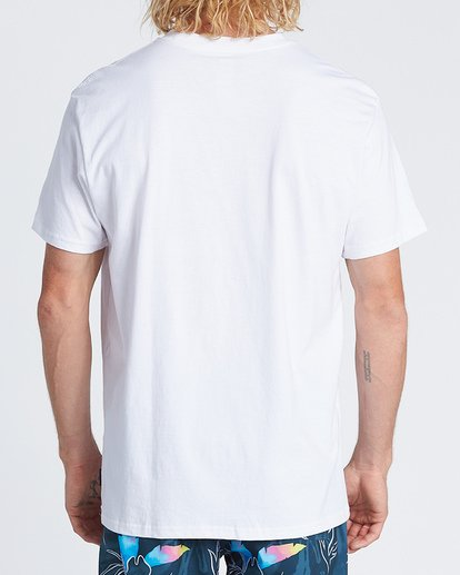 2 Team Wave Short Sleeve T-Shirt White M4041BTW Billabong