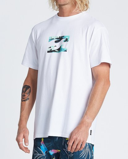 1 Team Wave Short Sleeve T-Shirt White M4041BTW Billabong