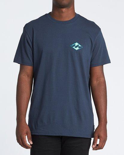 2 Warchild Short Sleeve T-Shirt Blue M4041BWA Billabong