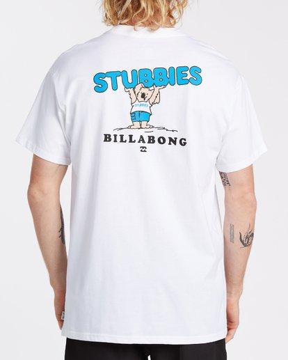 1 Stubbies Koala Short Sleeve T-Shirt White M4041BXR Billabong