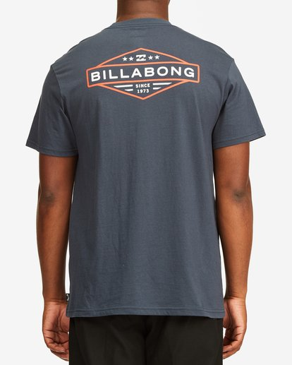 2 Autoshop Short Sleeve T-Shirt Blue M4042BAU Billabong
