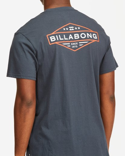 3 Autoshop Short Sleeve T-Shirt Blue M4042BAU Billabong