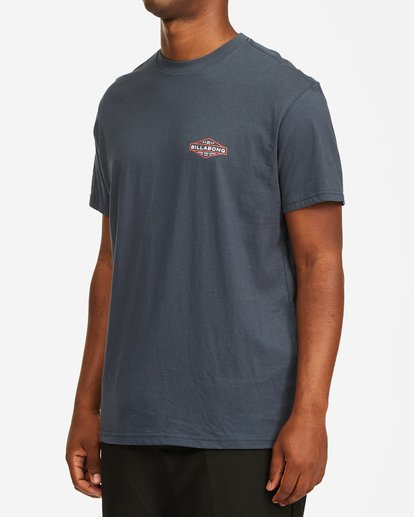 1 Autoshop Short Sleeve T-Shirt Blue M4042BAU Billabong