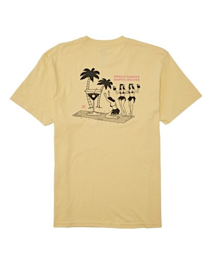 4 Bless The Booze Short Sleeve T-Shirt Yellow M4042BBB Billabong