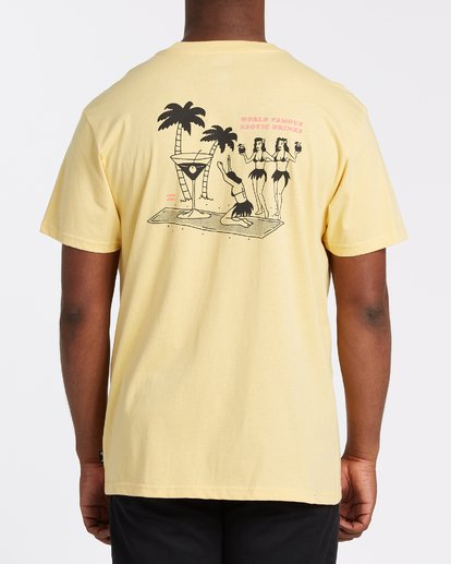 2 Bless The Booze Short Sleeve T-Shirt Yellow M4042BBB Billabong