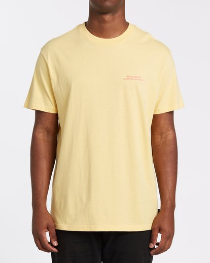 0 Bless The Booze Short Sleeve T-Shirt Yellow M4042BBB Billabong