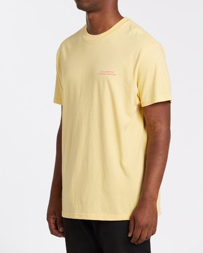 1 Bless The Booze Short Sleeve T-Shirt Yellow M4042BBB Billabong