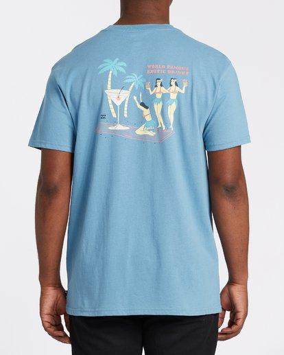 2 Bless The Booze Short Sleeve T-Shirt Grey M4042BBB Billabong