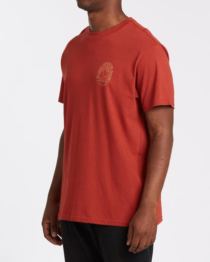 1 Beyond Short Sleeve T-Shirt Brown M4042BBE Billabong