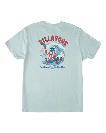 4 Boom Short Sleeve T-Shirt Blue M4042BBO Billabong