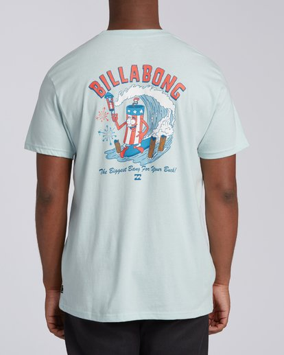 2 Boom Short Sleeve T-Shirt Blue M4042BBO Billabong