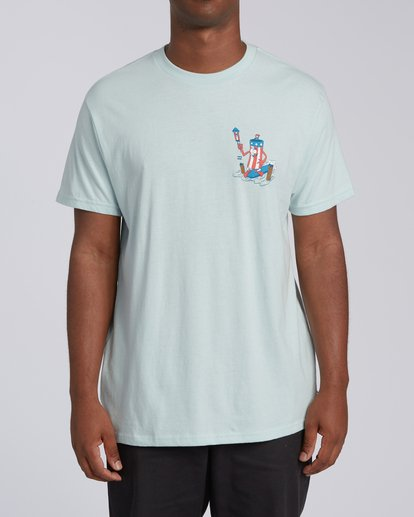 0 Boom Short Sleeve T-Shirt Blue M4042BBO Billabong