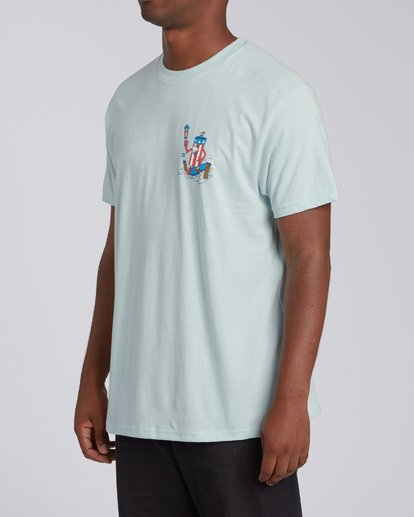 1 Boom Short Sleeve T-Shirt Blue M4042BBO Billabong