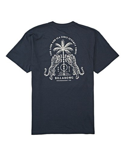 4 Double Tiger Short Sleeve T-Shirt Blue M4042BDO Billabong