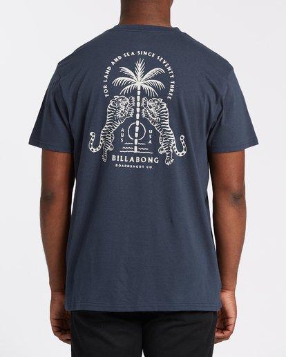 2 Double Tiger Short Sleeve T-Shirt Blue M4042BDO Billabong