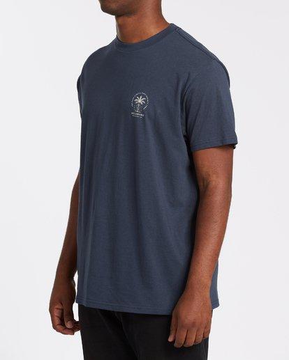 1 Double Tiger Short Sleeve T-Shirt Blue M4042BDO Billabong