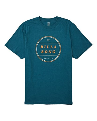 3 Frotor Short Sleeve T-Shirt Blue M4042BFR Billabong