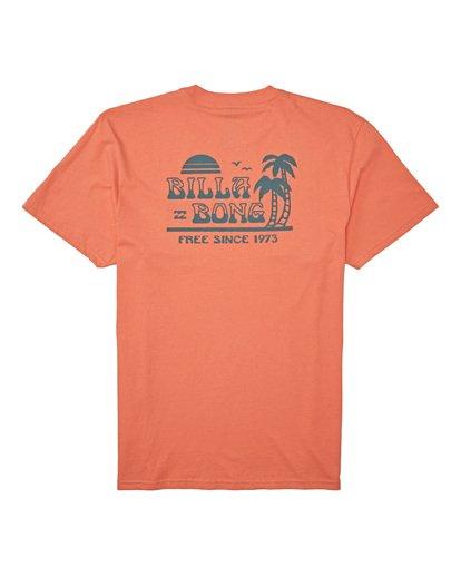 4 Lounge Short Sleeve T-Shirt Orange M4042BLO Billabong